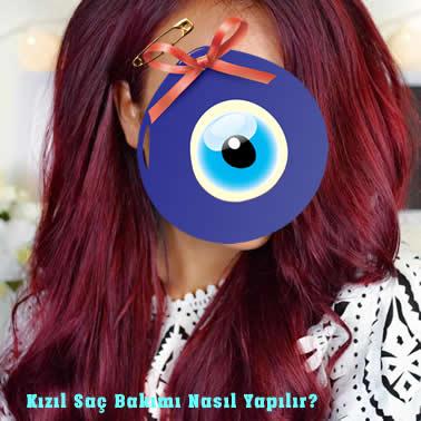 Kızıl Boyalı Saç Bakımı